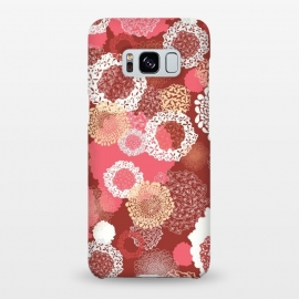 Galaxy S8+  Doily Flowers on Red by Paula Ohreen