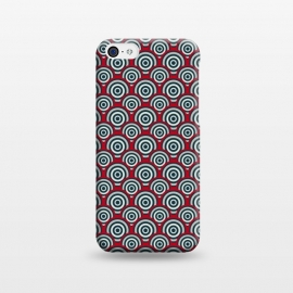iPhone 5C  Seamless Retro Circle by TMSarts