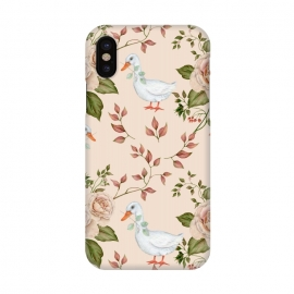 iPhone X  Goose in Rose Garden by