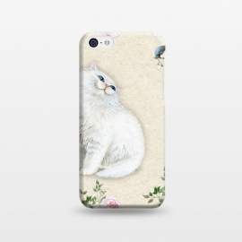 iPhone 5C  Kitty Welcomes Bird by Creativeaxle