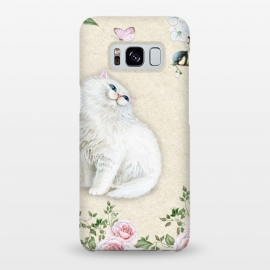 Galaxy S8+  Kitty Welcomes Bird by Creativeaxle