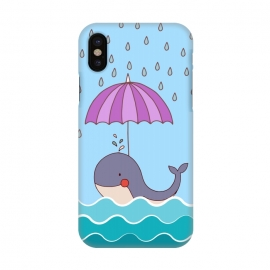 iPhone X  Swimming Whale by Creativeaxle