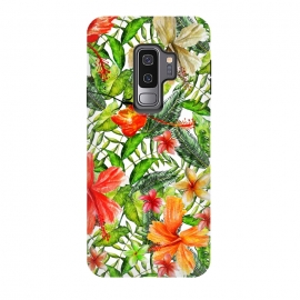 Galaxy S9 plus  Hibiscus Pattern by