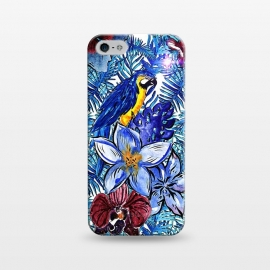 iPhone 5/5E/5s  Blue Jungle Bird Pattern by