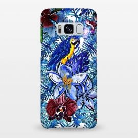 Galaxy S8+  Blue Jungle Bird Pattern by Utart