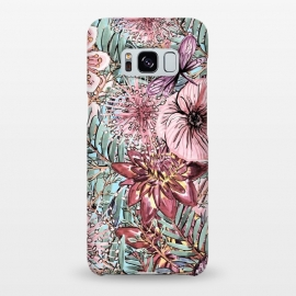 Galaxy S8+  Tropical Vintage Flower Pattern by Utart