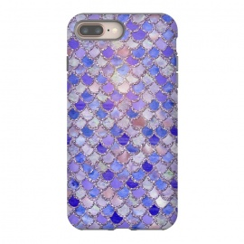 Purple hand drawn mermaid scales by Utart