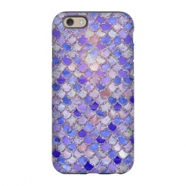 iPhone 6/6s  Purple hand drawn mermaid scales by Utart