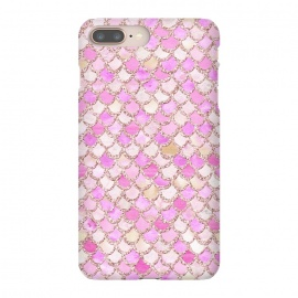iPhone 8/7 plus  Light Pink hand drawn mermaid scales by