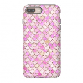 Light Pink hand drawn mermaid scales by Utart