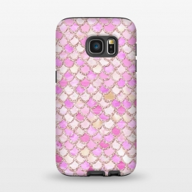 Galaxy S7  Light Pink hand drawn mermaid scales by Utart