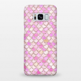 Galaxy S8+  Light Pink hand drawn mermaid scales by Utart