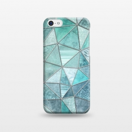 iPhone 5C  Stained Glass Glamour Teal And Turquoise by Andrea Haase