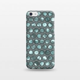 iPhone 5C  Green Glass Bead Pattern by Andrea Haase