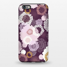 iPhone 6/6s plus  Doily Flowers on Purple by Paula Ohreen