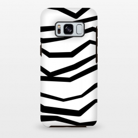 Galaxy S8+  Wavy Zig Zag Stripes Black And White by Andrea Haase