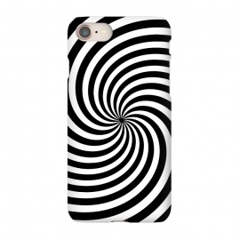 iPhone 8/7  Concentric Spiral Op Art Black And White by Andrea Haase