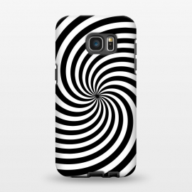 Galaxy S7 EDGE  Concentric Spiral Op Art Black And White by Andrea Haase