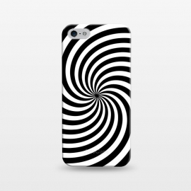 iPhone 5/5E/5s  Concentric Spiral Op Art Black And White by Andrea Haase