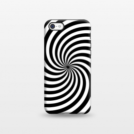 iPhone 5C  Concentric Spiral Op Art Black And White by Andrea Haase