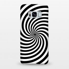 Galaxy S8+  Concentric Spiral Op Art Black And White by Andrea Haase