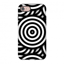 iPhone 8/7  Pop-Art Circle Pattern Black White by Andrea Haase