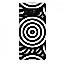 Galaxy Note 8  Pop-Art Circle Pattern Black White by Andrea Haase