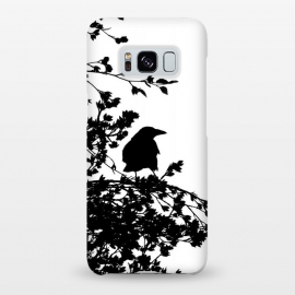 Galaxy S8+  Black And White Bird by Andrea Haase