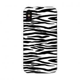 iPhone Xs / X  Zebra Stripes Black And White by Andrea Haase