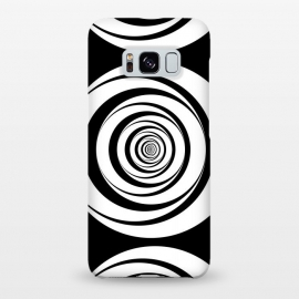 Galaxy S8+  Concentric Circles Pop-Art Black White by Andrea Haase