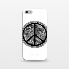 iPhone 5/5E/5s  Zen Doodle Peace Symbol by Andrea Haase
