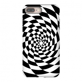 Checker Spiral Black And White by Andrea Haase