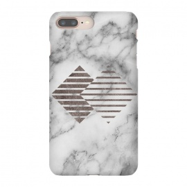 iPhone 8/7 plus  Geometrical Metal Shapes on Marble by