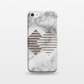 iPhone 5C  Geometrical Metal Shapes on Marble by Utart