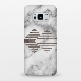 Galaxy S8+  Geometrical Metal Shapes on Marble by Utart