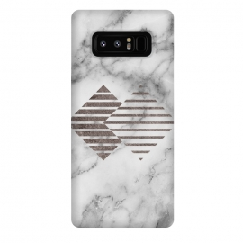 Galaxy Note 8  Geometrical Metal Shapes on Marble by Utart