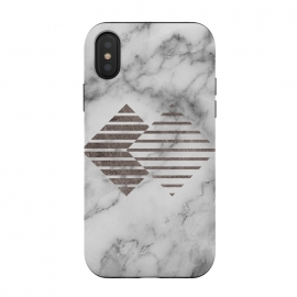 iPhone Xs / X  Geometrical Metal Shapes on Marble by Utart