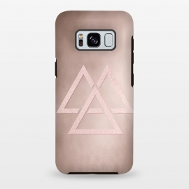 Galaxy S8+  Rosegold Geometrical Modern Shapes on Rose Blush by Utart