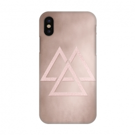 iPhone X  Rosegold Geometrical Modern Shapes on Rose Blush by Utart