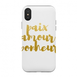 iPhone Xs / X  Peace Love Happiness by