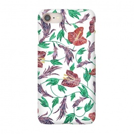 iPhone 8/7  Tropical Flowers Pattern by Dushan Medich