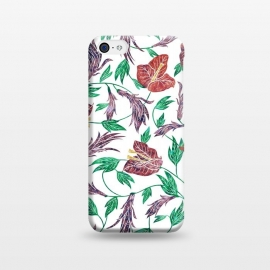 iPhone 5C  Tropical Flowers Pattern by Dushan Medich