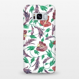 Galaxy S8+  Tropical Flowers Pattern by Dushan Medich