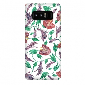 Galaxy Note 8  Tropical Flowers Pattern by Dushan Medich