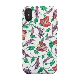 iPhone Xs / X  Tropical Flowers Pattern by Dushan Medich