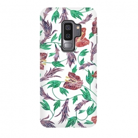 Galaxy S9+  Tropical Flowers Pattern by Dushan Medich (tropical,flowers,pattern,elegant)
