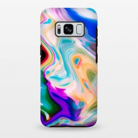 Galaxy S8+  Colorful Abstract Marble Swirls by Dushan Medich