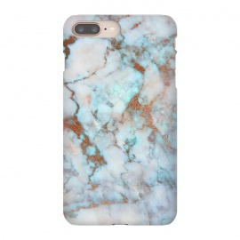 iPhone 8/7 plus  White & Gold Faux Marble by
