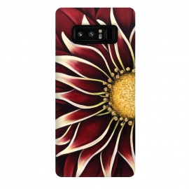 Galaxy Note 8  Crimson Zinnia by Denise Cassidy Wood