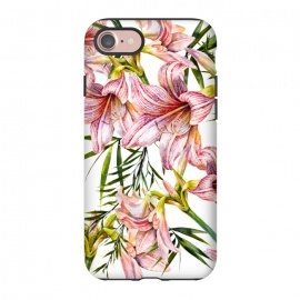 iPhone 8/7  Floral tropical pink by Mmartabc